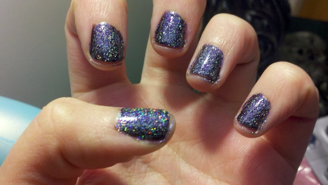 Product Review Nails Inc Electric Lane Holographic Glitter Top Coat Eyeblinkfashion